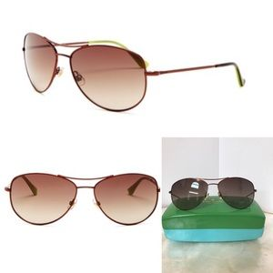 Kate Spade Ally Aviator Sunglasses with Case